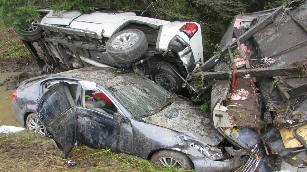 Medical incident leads to two-vehicle crash, rollover on I