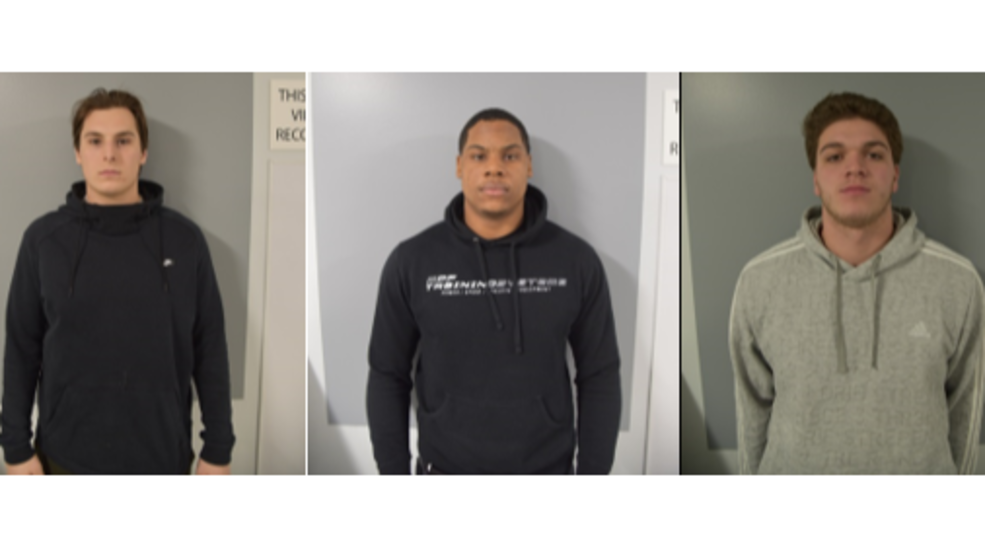 522d116fd Kyle Hamper, Quinlen Dean and Jackson Housman, three University of New  Hampshire football players, face riot charges after Durham Police accused  the trio of ...