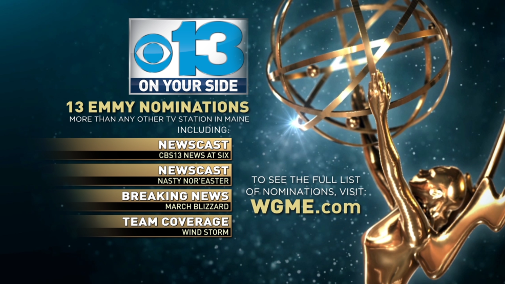 CBS 13 leads Maine with 13 Emmy nominations   WGME