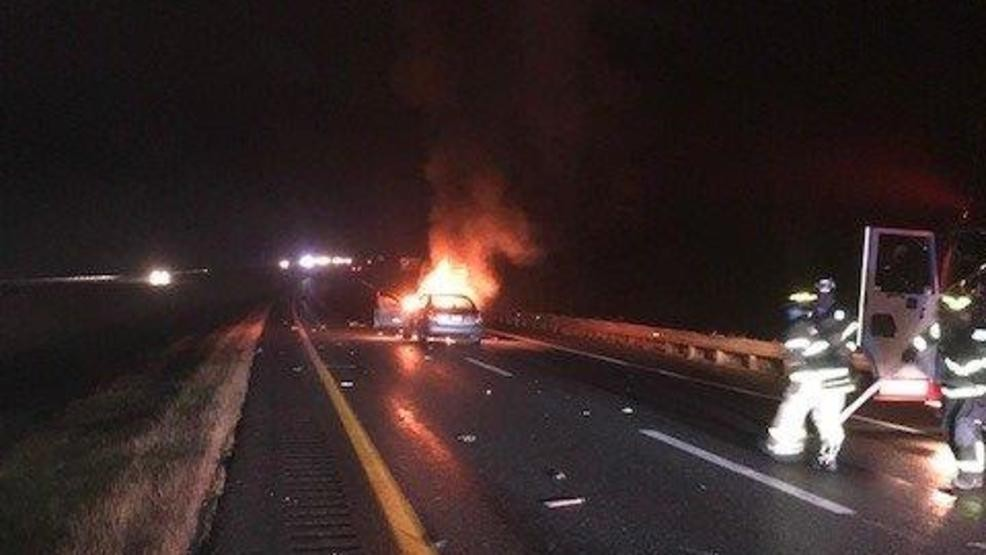 Distracted Maine driver slams into vehicle causing it to catch fire
